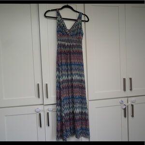 Zig zag maxi dress knit